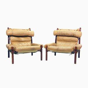 Inca Safari Sessel von Arne Norell, 1970er, 2er Set
