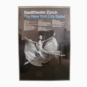 New York City Ballet Poster by Josef Muller-Brockmann, 1962