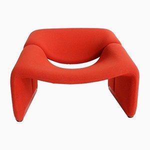 Sedia F598 rossa di Pierre Paulin per Artifort, anni '70