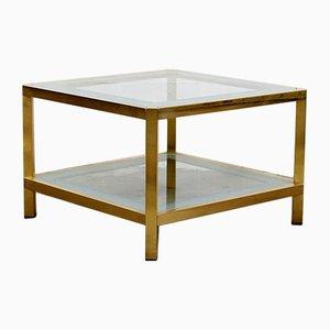 Mesa de centro vintage dorada de Fedam, años 70