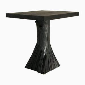 Pressed Wood Black Side Table from Johannes Hemann