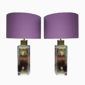 Lámparas de pie vintage de Helena Tynell para Glashütte Limburg. Juego de 2