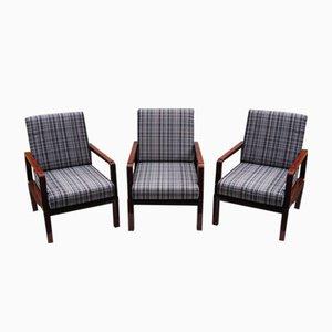 Vintage Adjustable Armchairs, Set of 3