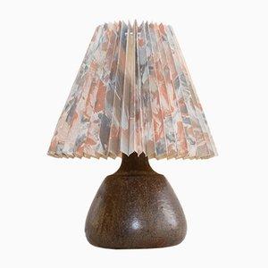 Lámpara de mesa de cerámica de Einar Johansen para Soholm Stentoj, años 60
