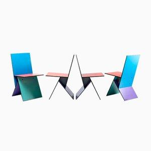 Sillas Vilbert de Verner Panton para Ikea, años 90. Juego de 4