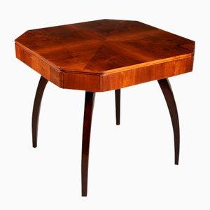 Table Basse Vintage avec 4 Tiroirs de Jindřich Halabala
