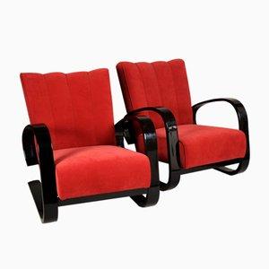 Rote Vintage Sessel von Alvar Aalto, 2er Set