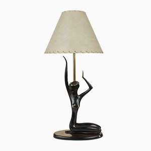 Polished Brass Table Lamp by Karl Hagenauer