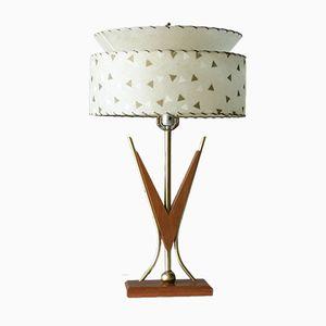 Lampe de Bureau Mid-Century en Teck, Amérique