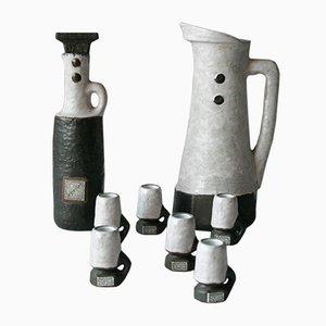 Ceramiche Domino vintage di Hans Welling per Ceramano, set di 8