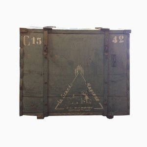 Wooden Military Chest from Rondini, 1940s