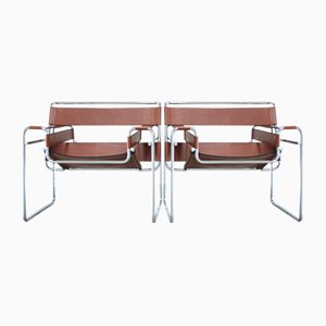Vintage B3 Wassily Chair by Marcel Breuer for Gavina, Set of 2
