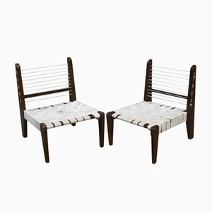 Chaises sans Accoudoirs Démontables par Pierre Jeanneret, 1954, Set de 2