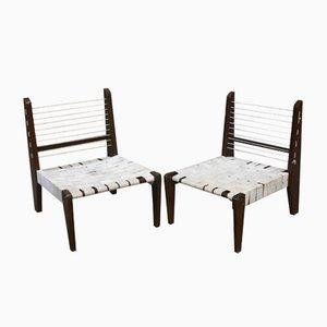 Sedie smontabili senza braccioli di Pierre Jeanneret, 1954, set di 2
