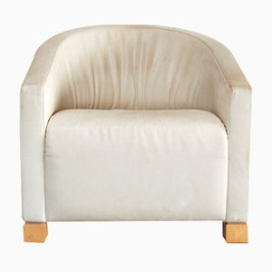 Armchair in Creme Leather by Paolo Piva for De Sede, 1980s