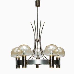 Lámpara de araña francesa vintage con cinco luces