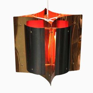 Lampada a sospensione vintage in ottone di Fagerhult, Scandinavia