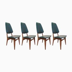 Skandinavische Vintage Teak Esszimmerstühle von Bruk Sorheim für Sorheim Mill, 4er Set