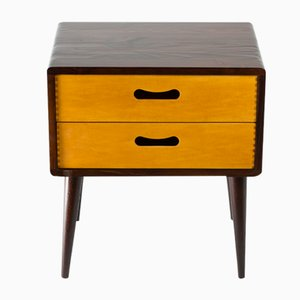 Mid-Century Double Drawer Side Table