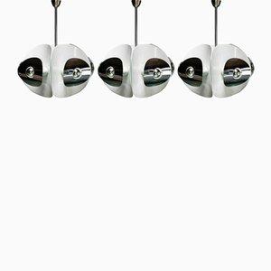 Lámparas colgantes vintage de espejo. Juego de 3