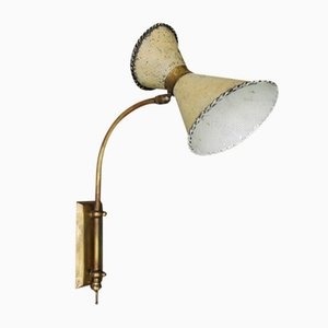Lámpara de pared giratoria y perforada, años 50