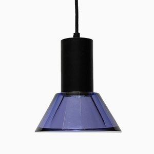 Lámpara colgante vintage de cristal de Flavio Poli para Seguso