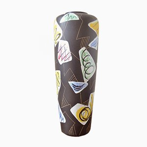 Vaso da terra Milano in ceramica di Ruscha Keramik, anni '60