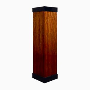 Art Deco Plinth in Mahogany Veneer