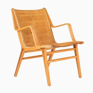 Sedia Ax in legno curvato di Peter Hvidt & Orla Møllgaard Nielsen per Fritz Hansen, anni '50