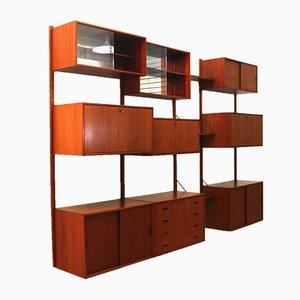 Libreria modulare in teak di Poul Cadovius, Danimarca, anni '60