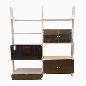 Modular Aluminum Shelving Unit by Michel Ducaroy for Ligne Roset, 1970s