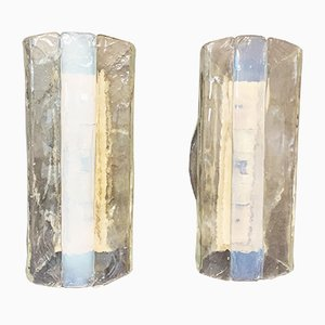 Mid-Century Sconces by Carlo Nason for Mazzega, Set of 2