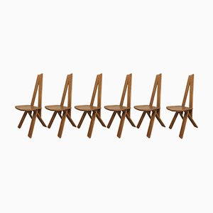 S45 Stühle von Pierre Chapo, 1970er, 6er Set