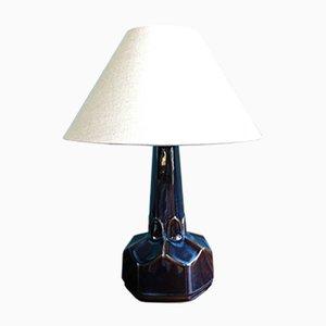 Lámpara de mesa danesa de cerámica pequeña de Einar Johansen para Soholm Stentoj, años 60