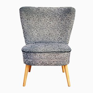 Vintage Cocktail Chair in Grey Fabric