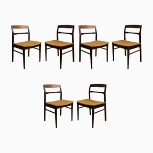 Vintage Chairs in Plain Wood, Set of 6