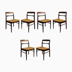 Vintage Stühle aus Schlichtem Holz, 6er Set