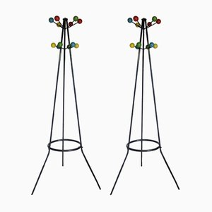 Vintage Coat Stands, Set of 2