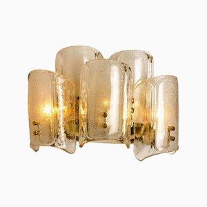 Große Glas Wandlampe im Stil von JT Kalmar, 1969