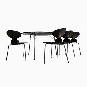 Juego de comedor de mesa Egg y sillas Ant de Arne Jacobsen para Fritz Hansen, años 50