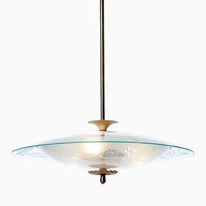 Lámpara colgante de seis luces, años 40