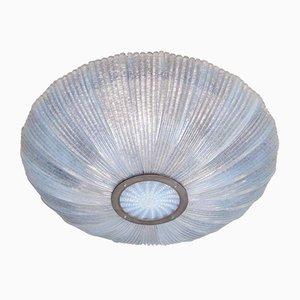 Plafón de cristal de Murano moldeado, años 40