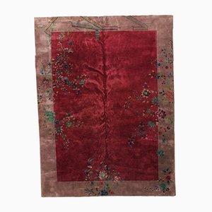 Chinese Art Deco Handmade Rug, 1920s