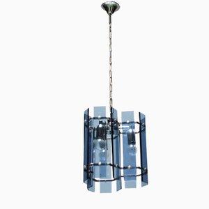 Lámpara colgante vintage de cristal facetado