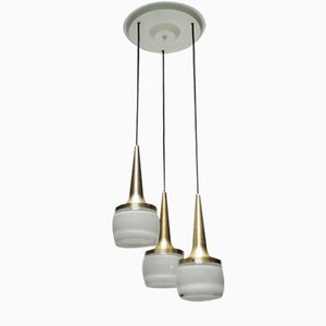 Vintage Hängelampe mit Drei Leuchten von Staff