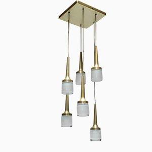 Lámpara alemana con seis luces colgantes de Staff