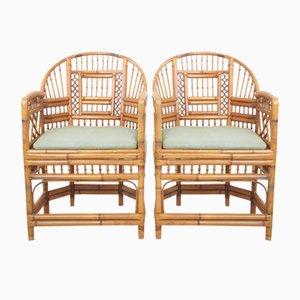 Handgemachte Vintage Rattan Brighton Palace Stühle, 2er Set