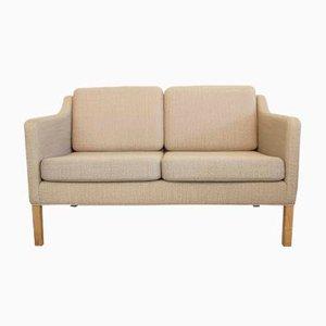 Sofá de dos plazas modelo 2322 vintage de Børge Mogensen para Frederica