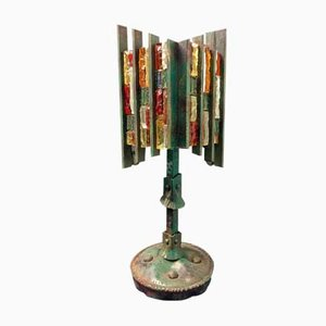 Brutalist Italian Sculptural Table Lamp from Poliarte