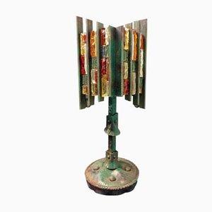 Lámpara de mesa italiana escultural brutalista de Poliarte